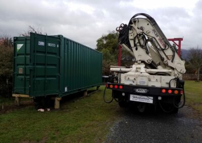 Positioned Shipping Container