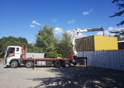 Placing a Shipping Container