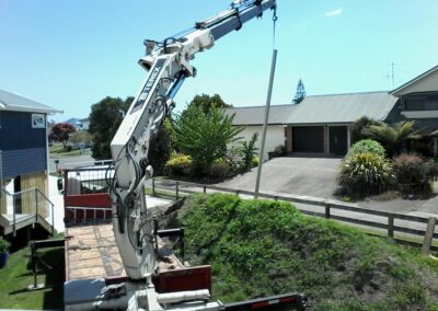 Moving Building Materials - Positioning a Pole