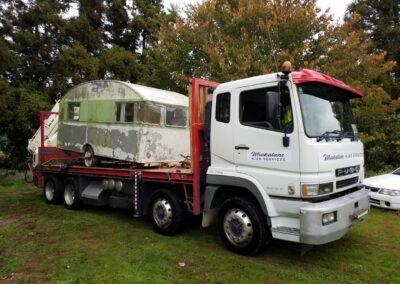 Hauling an old Campervan